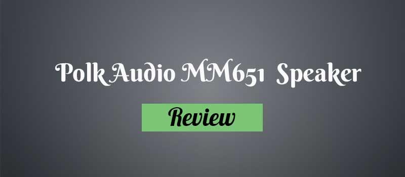 Polk Audio MM651 Speaker Review